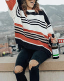 Curvedgirl Color-Lump Patchwork Sweater