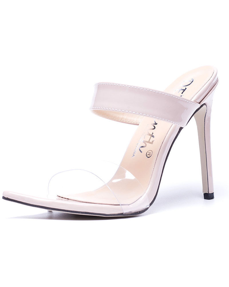 European Pointed Toe High-Heeled Sandals