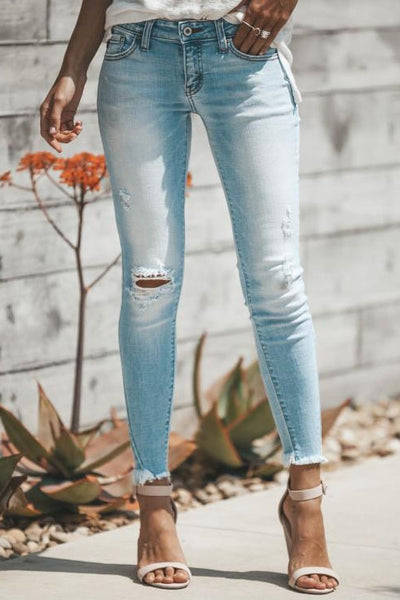 Curvedgirl Fashion Hole Jeans
