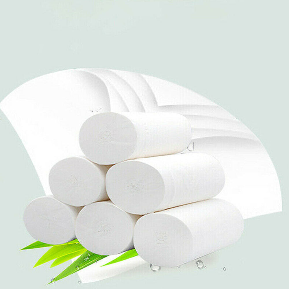 36/24/12 Rolls Toilet Paper Bulk Rolls Bath Tissue Bathroom Soft 4Ply Household