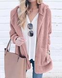 Curvedgirl Hooded Collar Winter Apricot Coat(3 Colors)