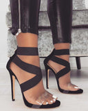 Sexy Cross Strap High Heel Sandals