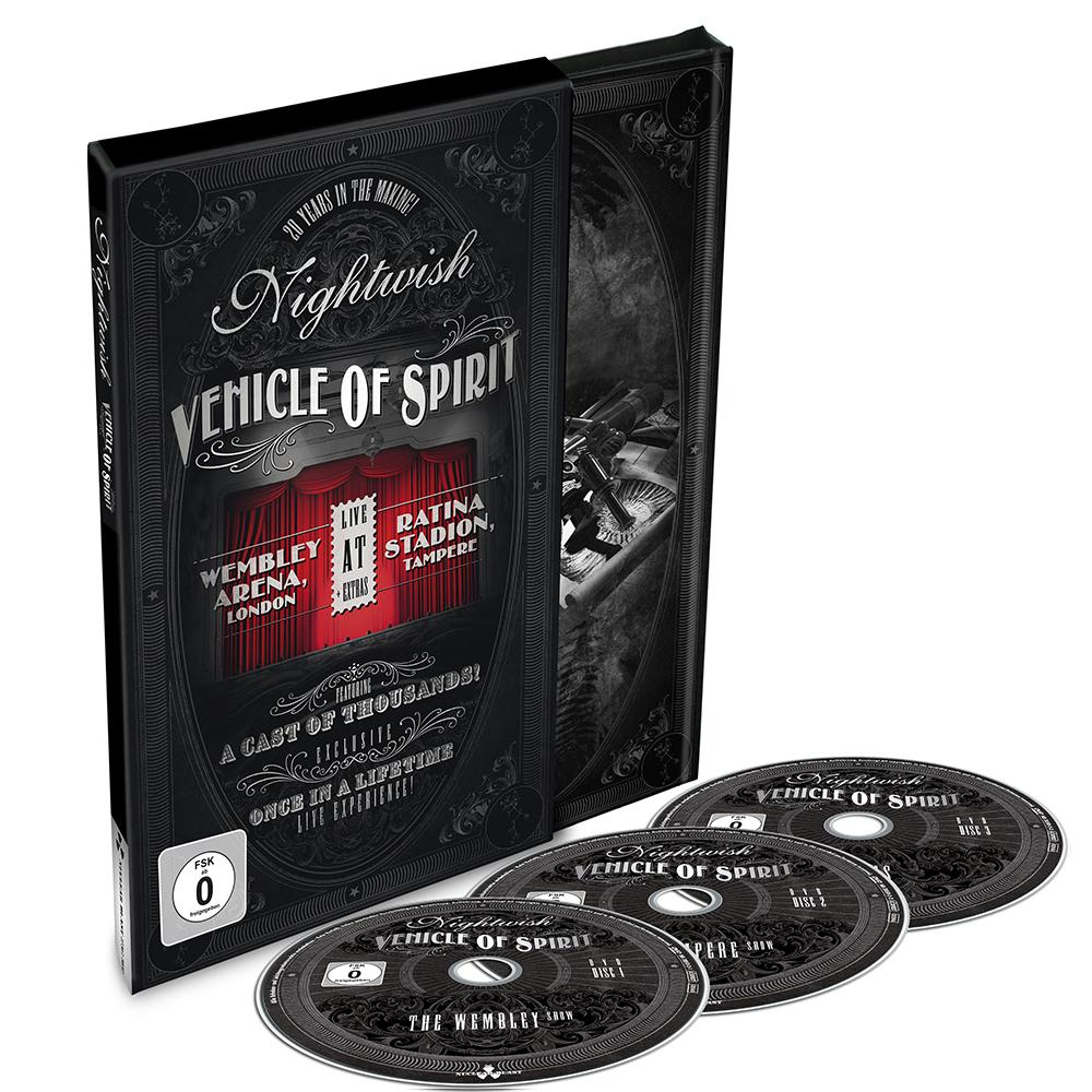 DVD NIGHTWISH Vehicle Of Spirit (édition digibook sous étui cartonné 3DVD)
