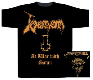 T-shirt Venom - At war With Satan