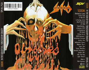 CD SODOM In The Sign Of Evil / Obsessed By Cruelty