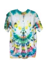 Load image into Gallery viewer, Multi Colour Tie-Dyed T-Shirt - Adult Large