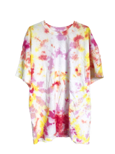 Load image into Gallery viewer, Pink and Yellow Tie-Dyed T-Shirt - Adult X-Large