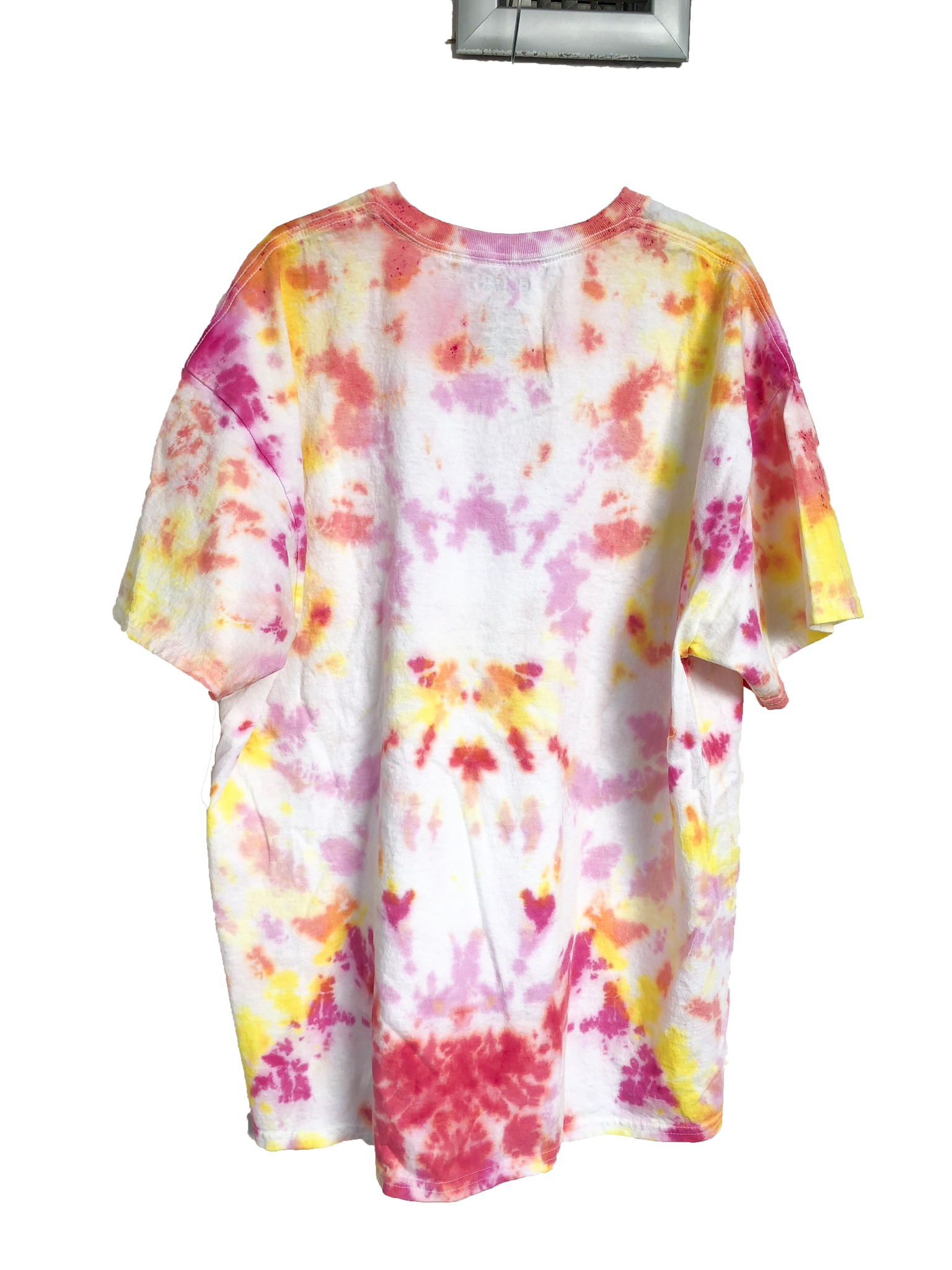 Pink and Yellow Tie-Dyed T-Shirt - Adult X-Large