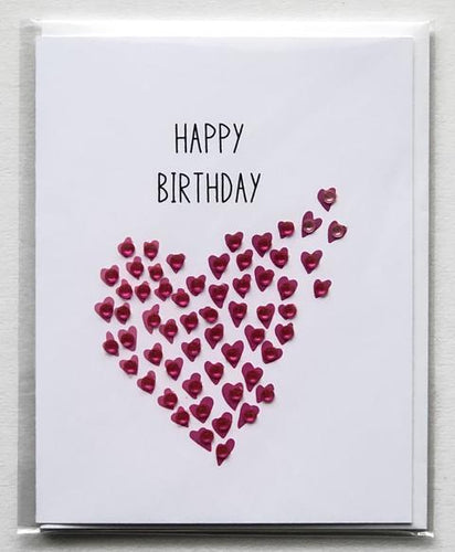 HAPPY BIRTHDAY Fly Away Hearts GREETING CARD
