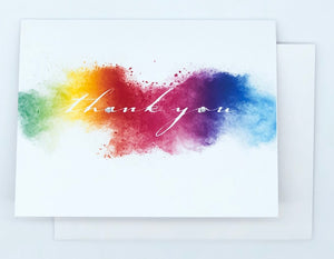 Thank You! Rainbow Water Colour - GREETING CARD
