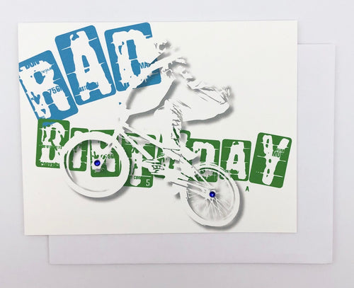 Rad Birthday BMX  - GREETING CARD