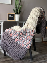 Load image into Gallery viewer, Healing Hand, Chunky Knit Pink & Grey