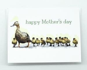 MOTHER'S DAY MOTHER DUCK WITH DUCKLINGS GREETING CARD
