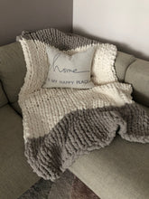 Load image into Gallery viewer, Healing Hand, Chunky Knit Blankets Vintage Grey