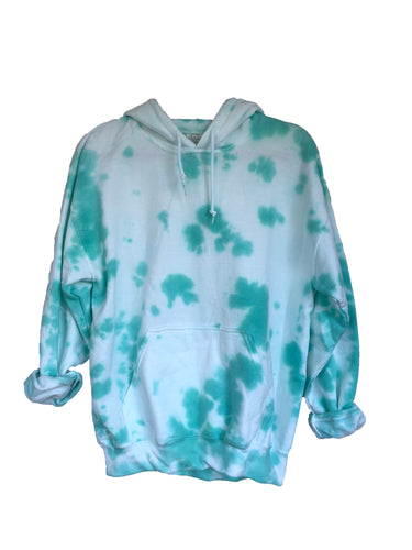 Mint Green Tie-Dyed Hoodie - Adult Medium