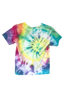 Multi Colour Swirl Tie-Dyed T-Shirt - Youth Small