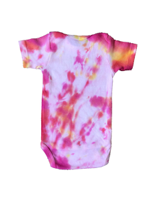 Tie Dyed Baby Onesie! Light Pink and Orange 3-6 month