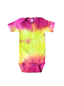 Tie Dyed Baby Onesie! Pink and Yellow 3-6 month