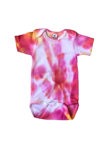 Tie Dyed Baby Onesie! Pink and Orange 3-6 month