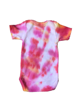 Load image into Gallery viewer, Tie Dyed Baby Onesie! Pink and Orange 3-6 month