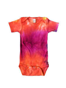 Tie Dyed Baby Onesie! Fuchsia and Orange 3-6 monts