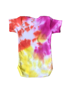 Tie Dyed Baby Onesie! Pink, Orange and Yellow 0-3 month
