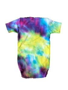 Tie Dyed Baby Onesie! Bright Rainbow 6-12 month