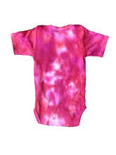 Load image into Gallery viewer, Tie Dyed Baby Onesie! Pink 3-6 month