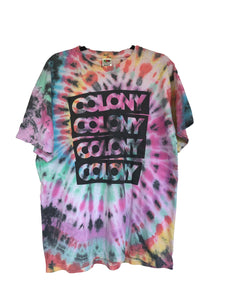 Multi-Colour Colony BMX Brand Tie-Dyed T-Shirt - Adult X-Large