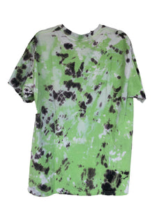 Green Tie-Dyed T-Shirt - Adult Large