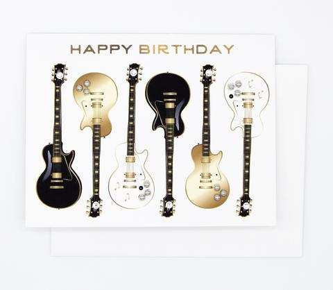 HAPPY BIRTHDAY GUITAR GREETING CARD