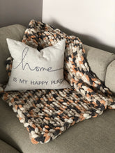 Load image into Gallery viewer, Healing Hand, Chunky Knit Blankets Pumpkin Spice