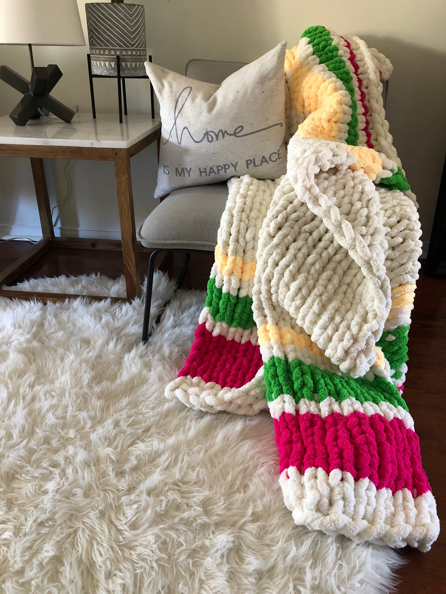 Healing Hand, Chunky Knit Blankets Not Hudson's Bay