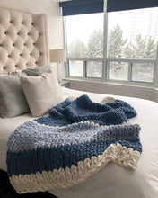 Load image into Gallery viewer, Healing Hand, Chunky Knit Blankets Cottage Blue