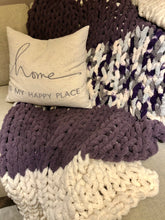 Load image into Gallery viewer, Healing Hand, Chunky Knit Blankets Purple