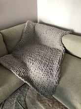 Load image into Gallery viewer, Healing Hand, Chunky Knit Blankets Grey Sky