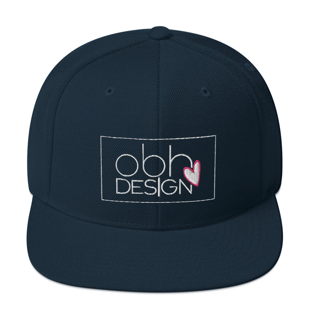 Off By Heart Design Snapback Hat