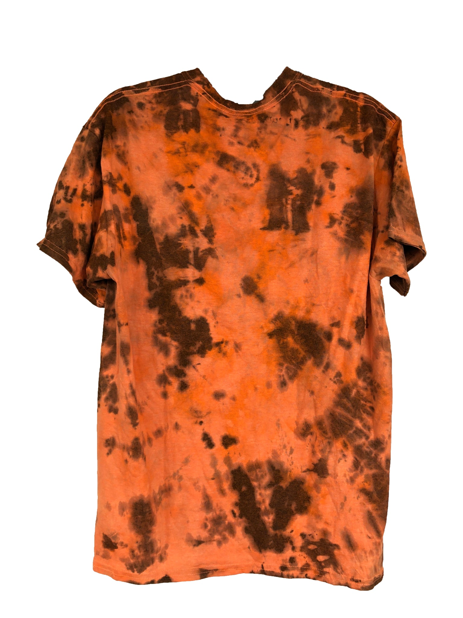 Orange Tie-Dyed T-Shirt - Adult Large