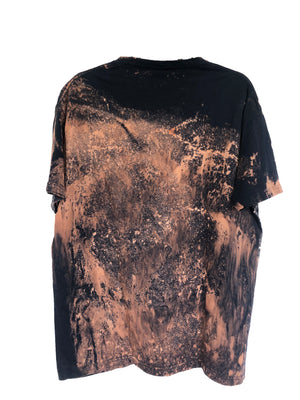Hand Painted Planet Reverse-Dye T-Shirt - Adult Large