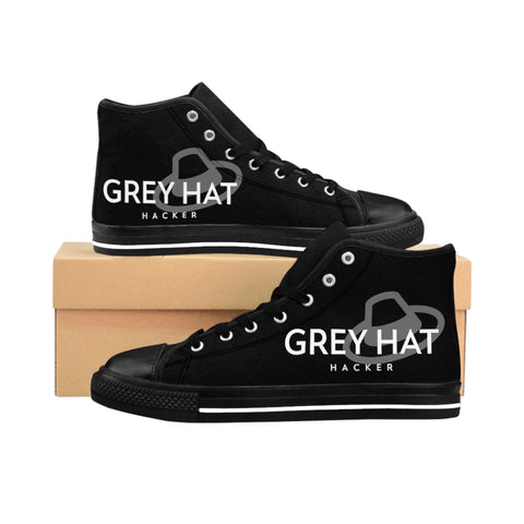 Grey Hat Hacker - Men's High-top Sneakers