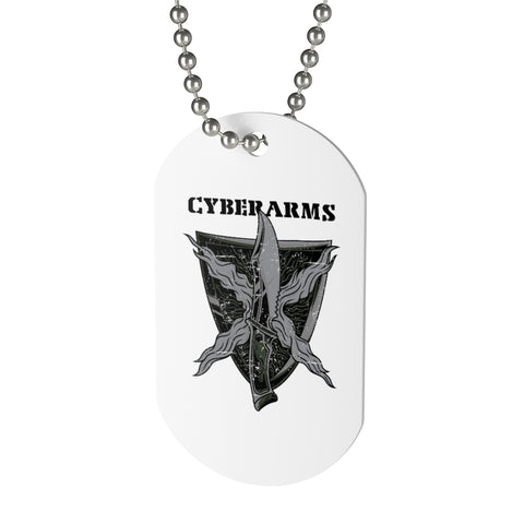 CyberArms - Dog Tag (black text)