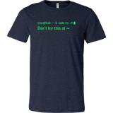 sudo rm -rf - Don't try this at home - Canvas Mens Shirt