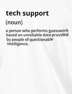 Tech support - Short-Sleeve Unisex T-Shirt (black text 2)