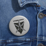 CyberArms - Custom Pin Buttons (grey)