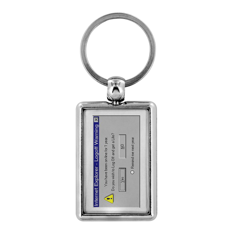 Log off and get a life - Keychains