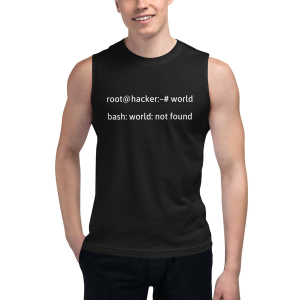 Linux Tweaks - world not found - Muscle Shirt (white text)