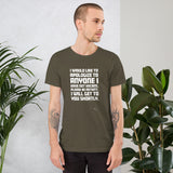 I would like to apologize to anyone I have not hacked - Short-Sleeve Unisex T-Shirt (white text)