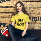 Keep Calm and let the ethical hacker handle it - Short-Sleeve Unisex T-Shirt (white text)