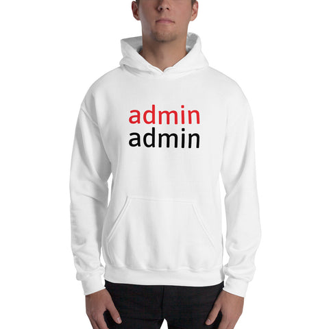 admin admin - Hooded Sweatshirt (black text)