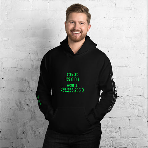 stay at at home, wear a mask - Unisex Hoodie (with all sides design)